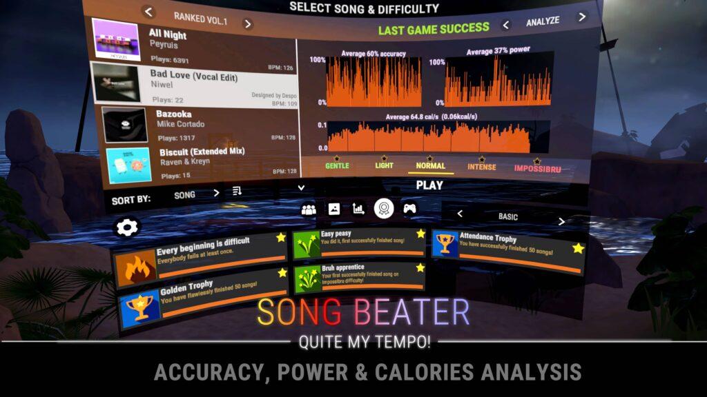 Song Beater Calories Analysis