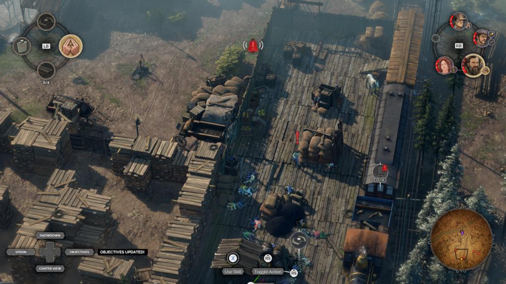 Desperados III Vlakové skladiště s hromadou mrtvol