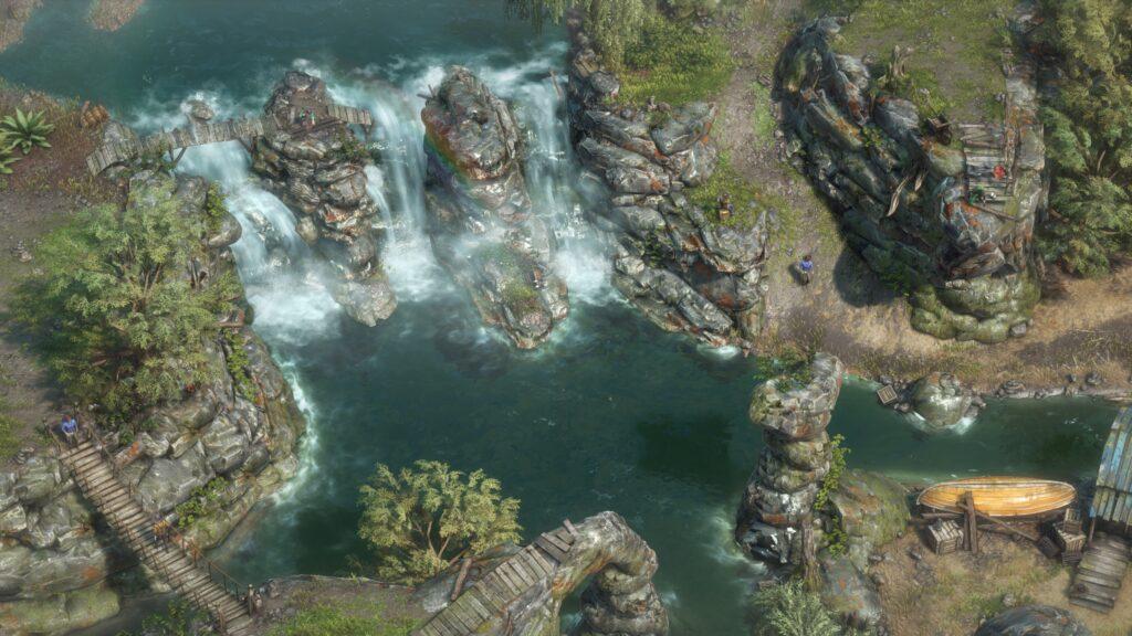 Desperados III Řeka s vodopády