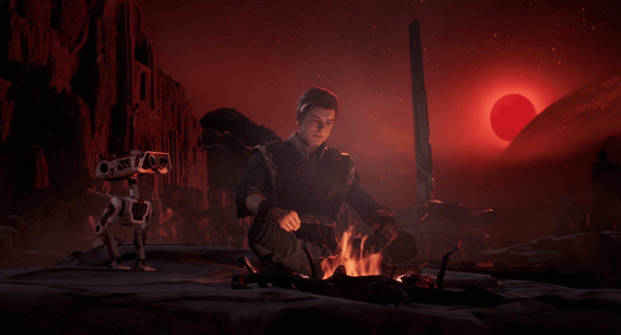 Jedi Fallen Order meditace u ohně