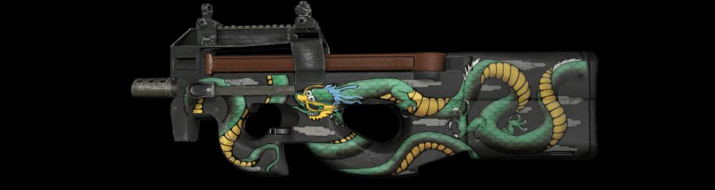 Nejdražší CS:GO skiny - P90 Emerald Dragon StatTrak™