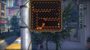 The Pedestrian –světelná značka