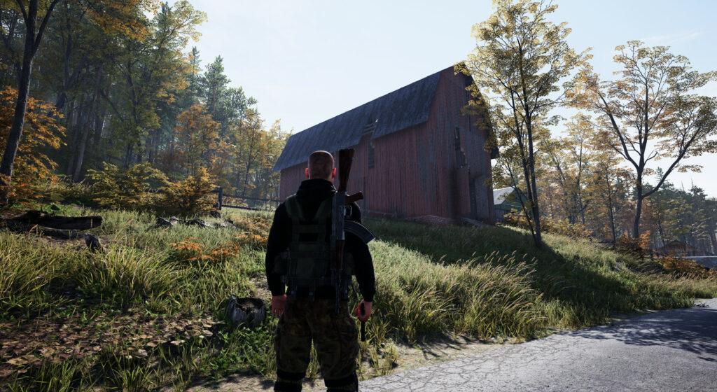 Deadside stodola na louce