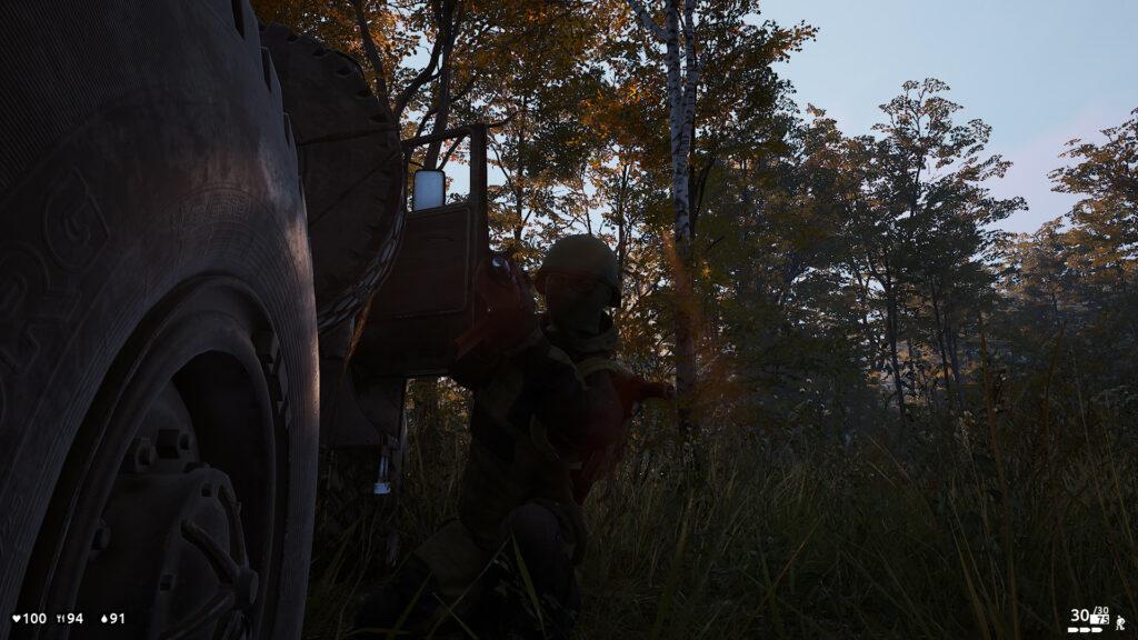 Deadside střelec za autem