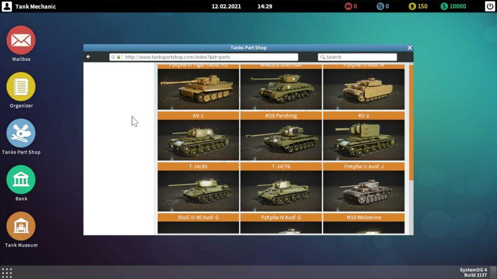 Tank Mechanic Simulator tanky