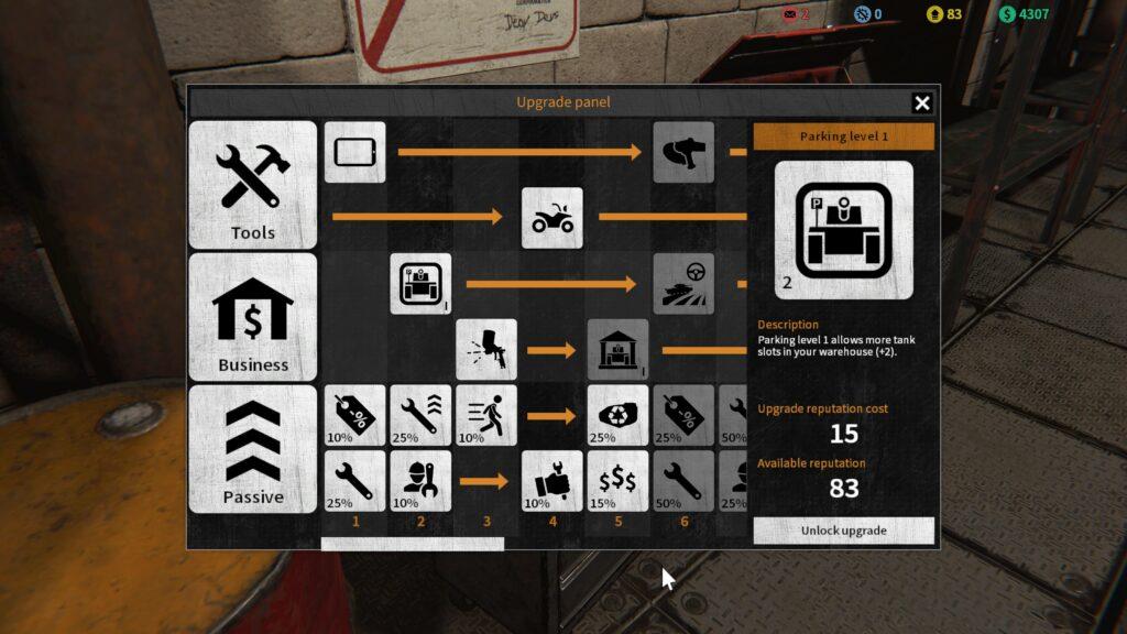 Tank Mechanic Simulator skill