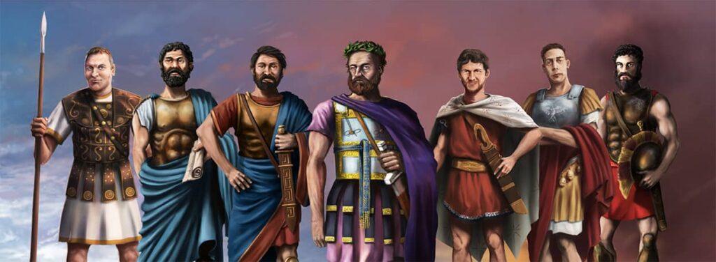 Imperiums Greek Wars velitelé