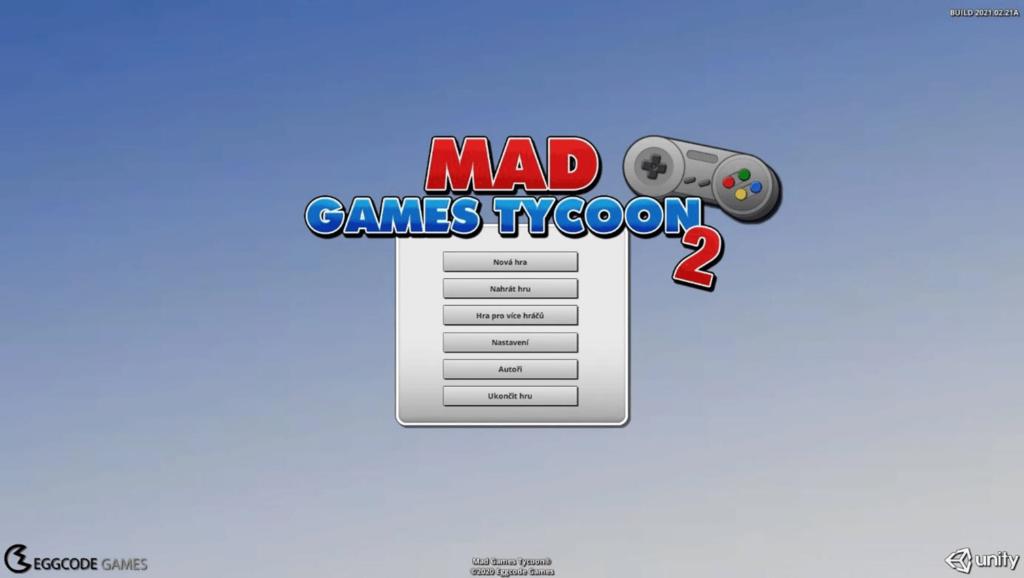 Mad Games Tycoon 2 - menu