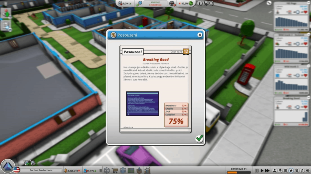 Mad Games Tycoon 2 - ohodnocení hry
