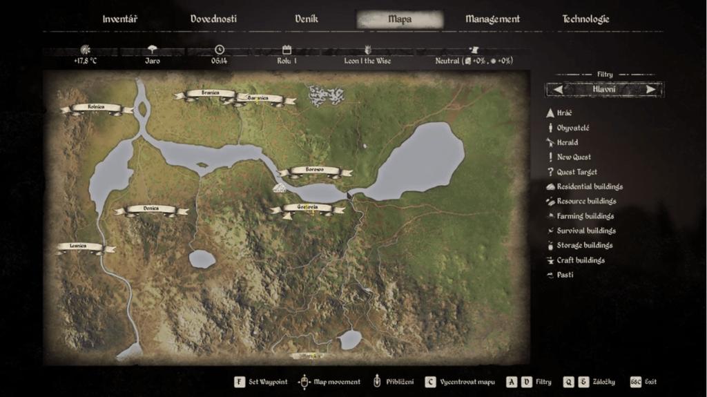 Medieval Dynasty mapa