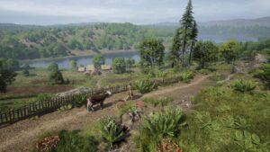 Medieval Dynasty vesnická krajina