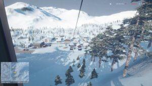 Winter Resort Simulator Season 2 - výhled z lanovky