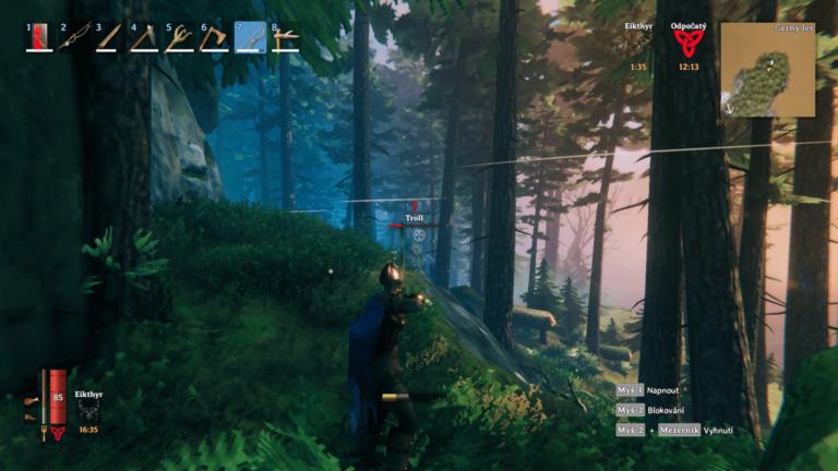 Valheim troll v lese