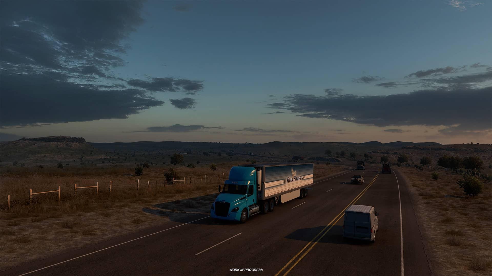 ATS Texas - západ slunce