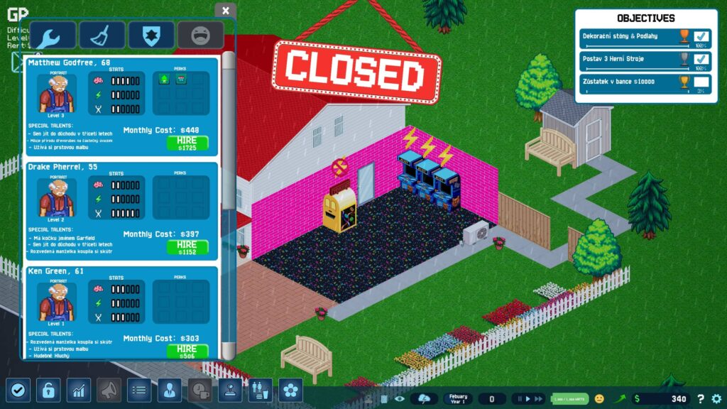 Arcade Tycoon – najímání zaměstnanců