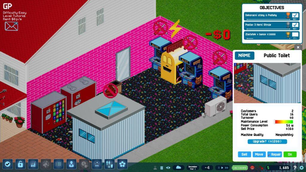 Arcade Tycoon – prvotní herna