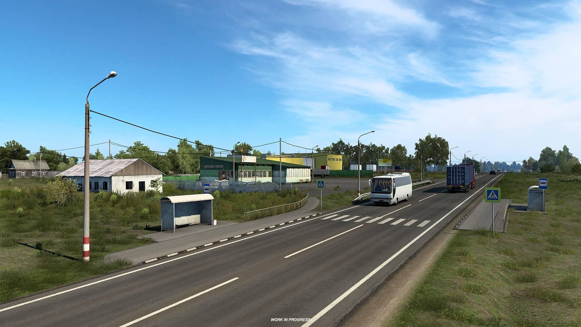 ETS 2 Heart of Russia - autobusová zastávka