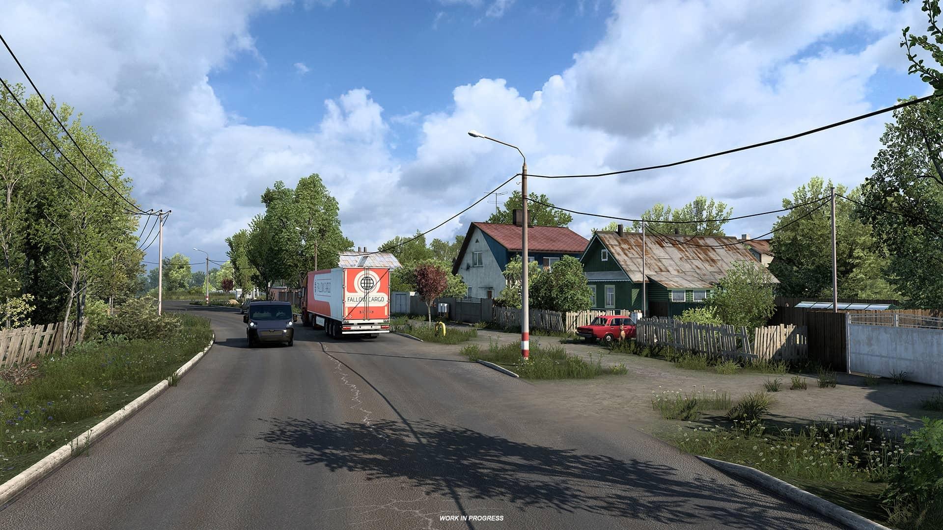 ETS 2 Heart of Russia - domy v ruském stylu
