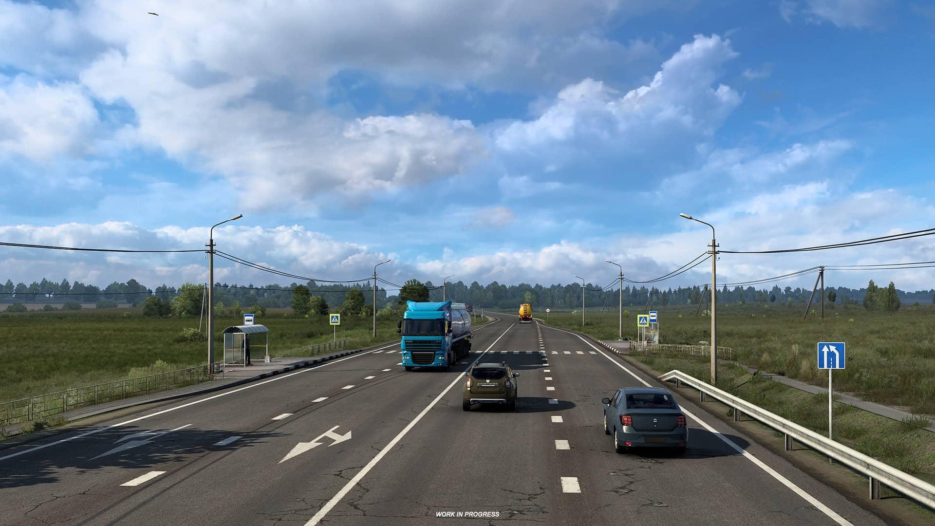 ETS 2 Heart of Russia - hlavní silnice