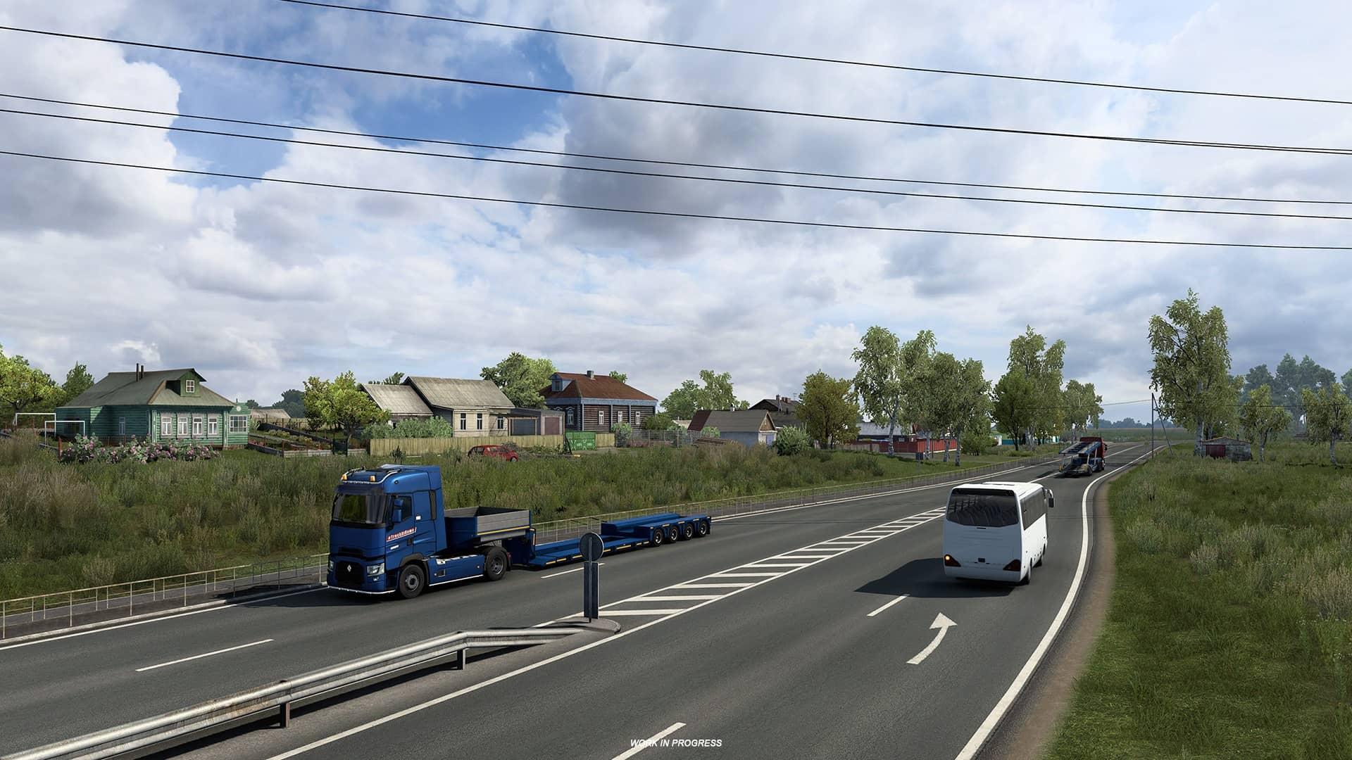 ETS 2 Heart of Russia - kamion s autobusem