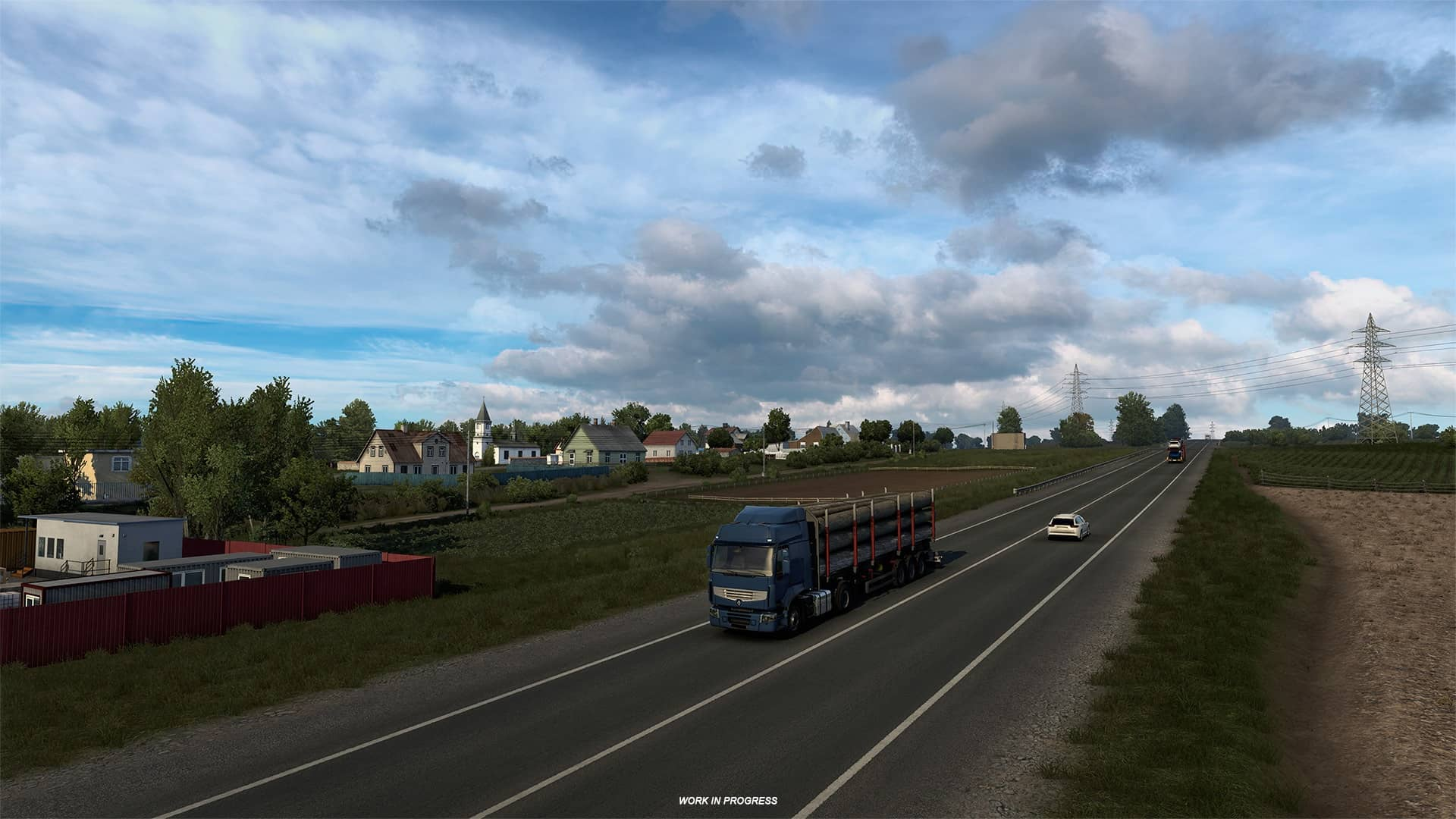 ETS 2 Heart of Russia - pohled na vesnici