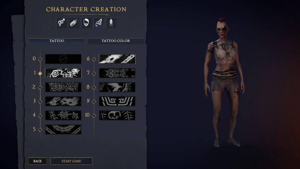 Tainted Grail – tvorba charakteru