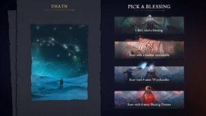 Tainted Grail – výběr bonusu do dalšího pokusu