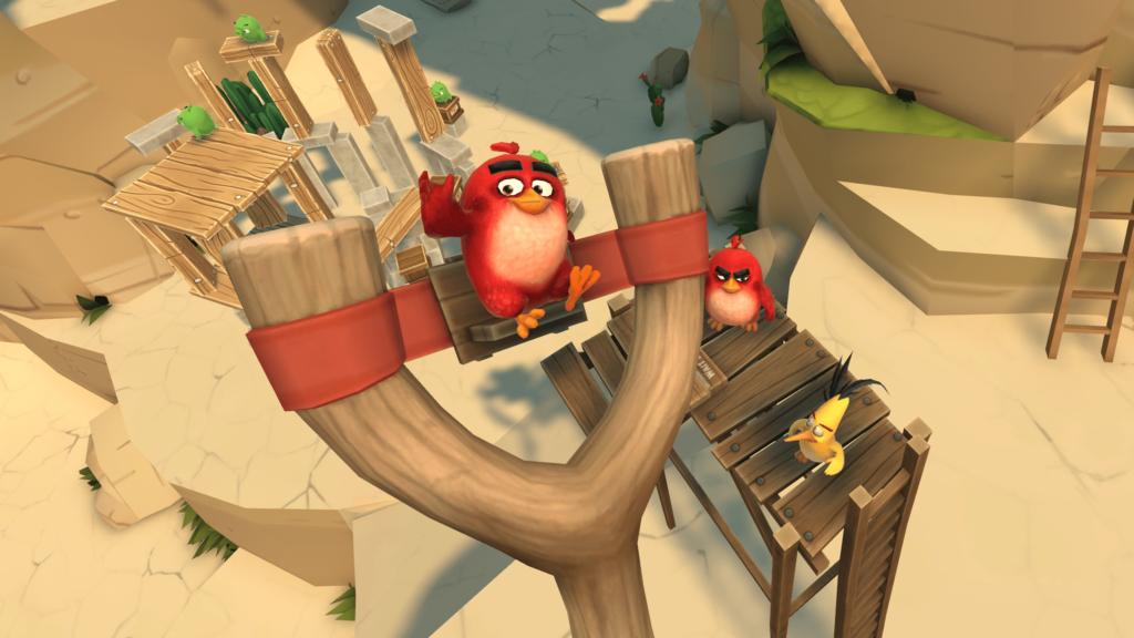 Angry Birds VR červený ptáček