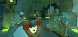 Angry Birds VR modrý ptáček