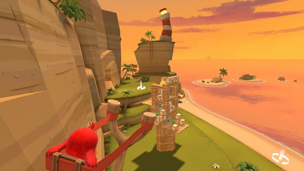 Angry Birds VR první level