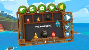 Angry Birds VR výběr ptáků