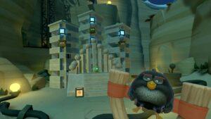 Angry Birds VR vybuchující pták
