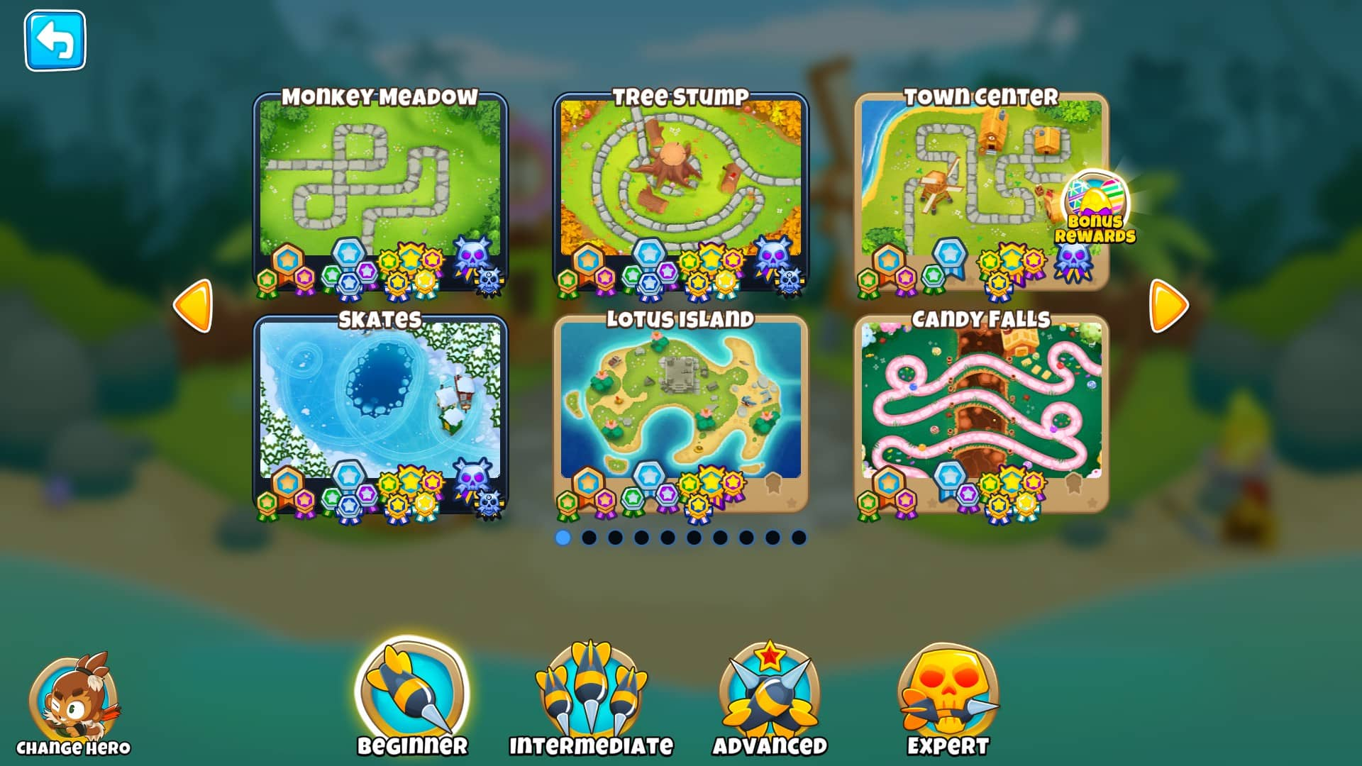 Bloons TD 6 - mapy