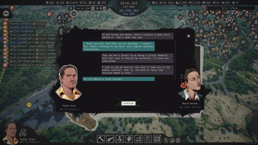 Cartel Tycoon dialog