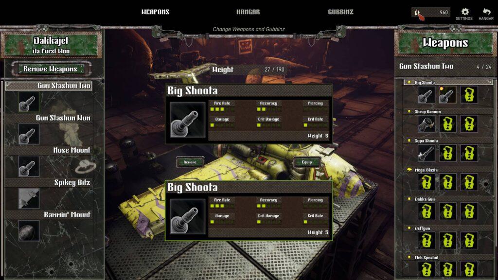 Dakka Squadron – vylepšování zbraní