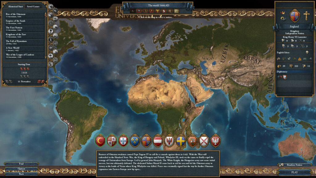 Europa Universalis map