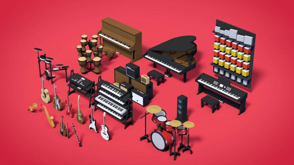 Mall Craze - hudební nástroje