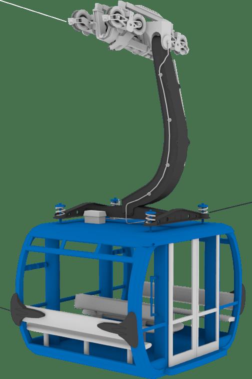 Winter Resort Simulator - kabina lanovky
