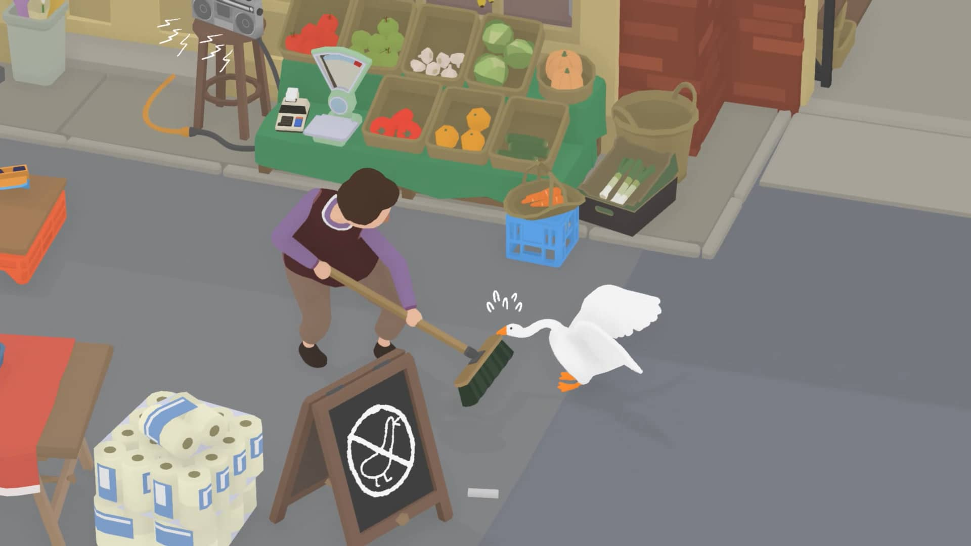 Untitled Goose Game - Boj o smeták