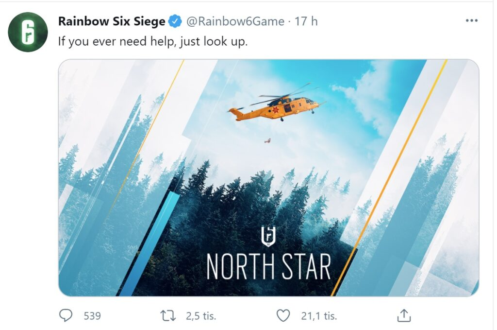 Rainbow Six Siege North Star a little help