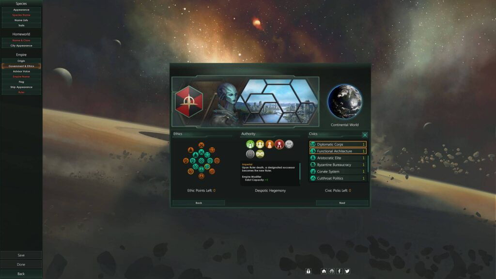 Stellaris - postava