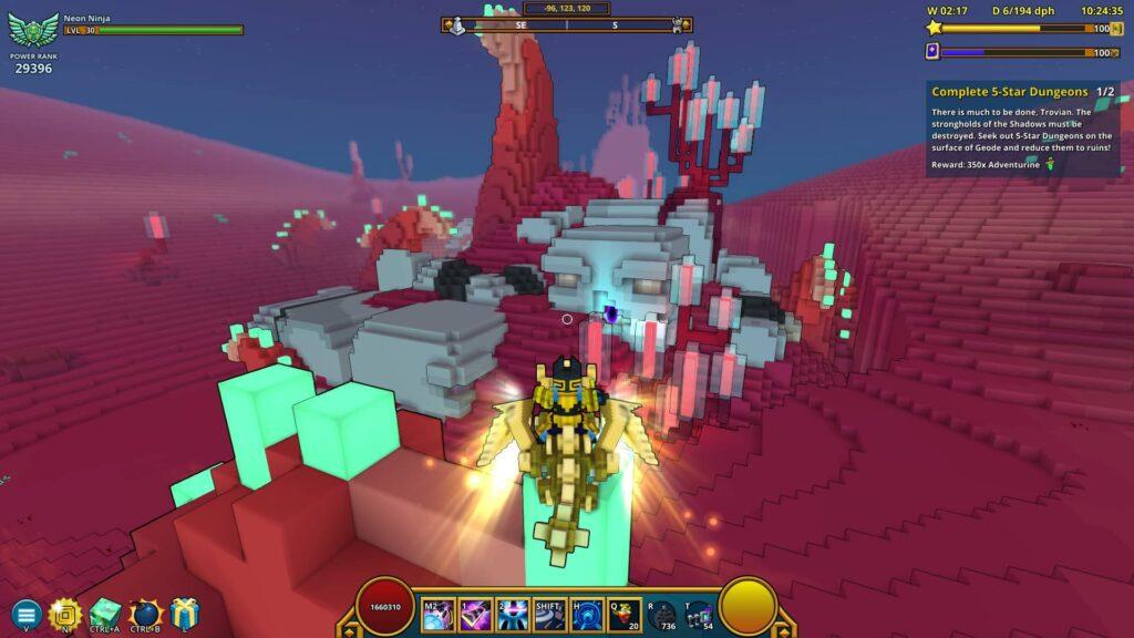 Trove Geode Topside dungeon