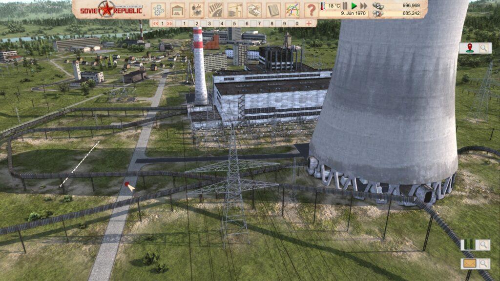 Workers And Resources Soviet Republic jaderná elektrárna