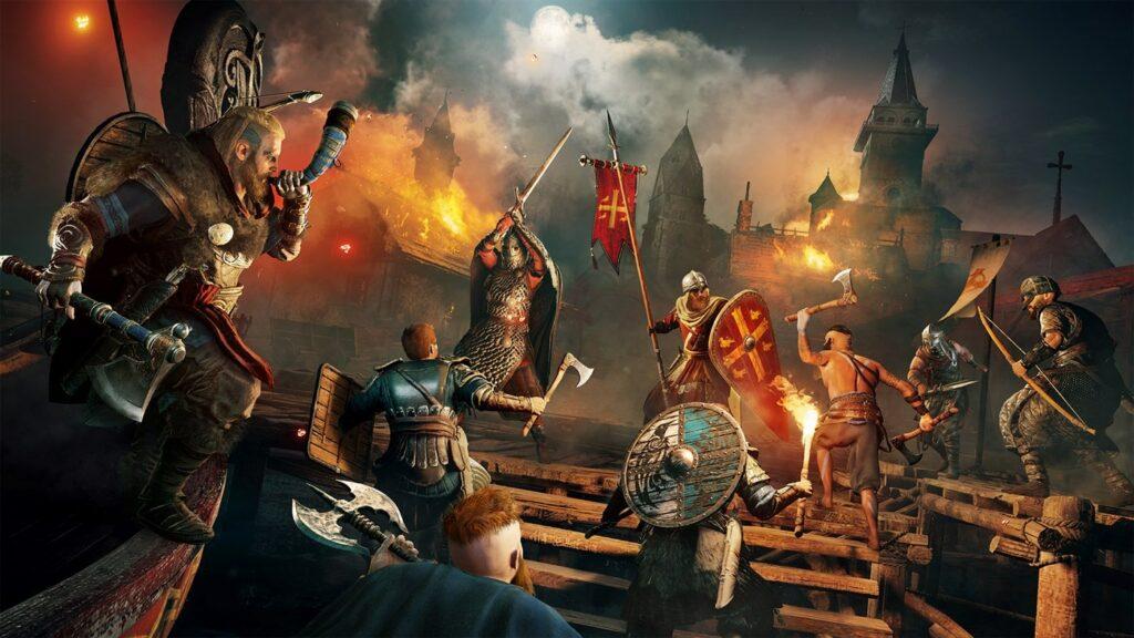 assassins creed valhalla souboj vikingů