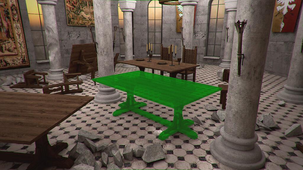 Castle Flipper table in hall