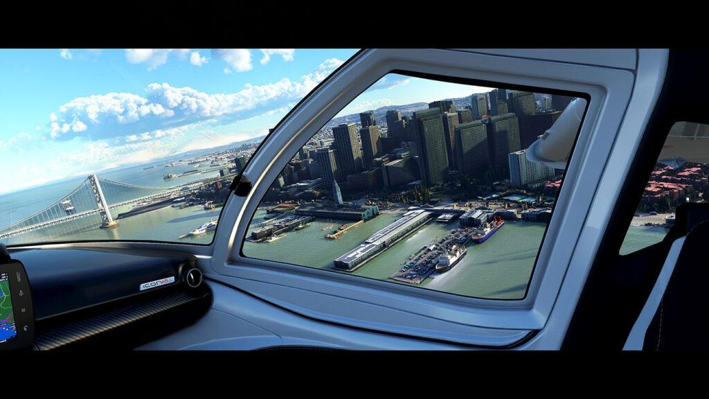 Microsoft Flight Simulator view