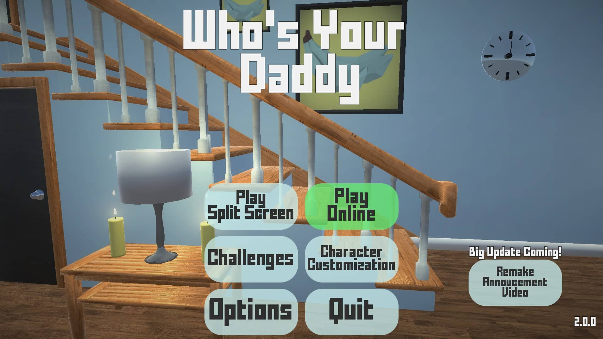 Who's Your Daddy OG Menu