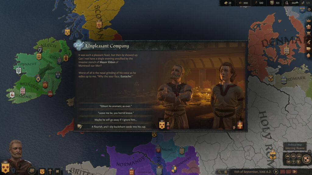 Crusader Kings III start of history