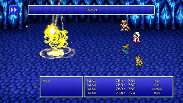 Final Fantasy Pixel Remasters fight