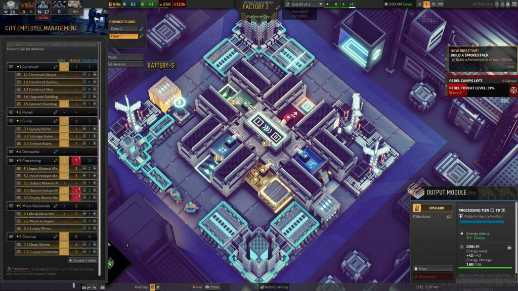 Industries of Titan buildings into